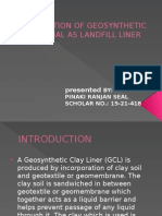 Application of Geosynthetic Material as Landfill Liner