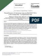 The performance of a heat pump using nanofluid (R22+TiO2)