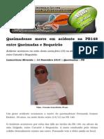 Queimadense Morre Em Acidente Na PB148 Entre Queimadas e Boqueirão