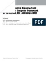 English Unlimited Advanced Cef Map