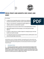 Fiscal Policy and Growth Why What and How