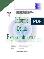 Expoconstruccion Campo Ferial Cbba Umss