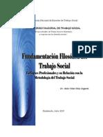 Fundamentacion Filosofica Del Trabajo Social. Dr. Julio Cesar Diaz