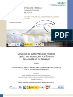 Catálogo de Vulnerabilidad y Riesgo Debido a La Inundación Por Tsunami
