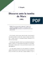 ENGELS FEDERICO. Discurso Ante La Tumba de Marx