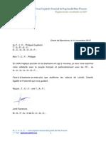 Carta condolencia atentados París GCGE-GCGF