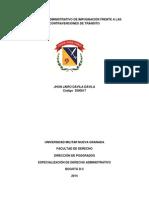 El Proceso de Impugnación Frente a Las Contravenciones de Transito Final