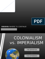 Colonialism vs. Imperialism