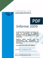 INFORME LATINOBAROMETRO 2009