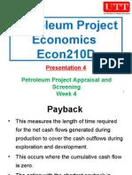Petroleum Project Economics 04