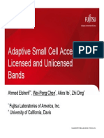 Fujitsu Adaptive Small Cell Access of Licensed and Unlicensed Bands