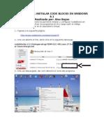 Manual para la Instalación del CodeBlocksW8.1