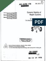 Dynamic Stability of Maglev