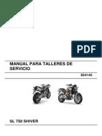 manual de servicio completo Aprilia Shiver 750