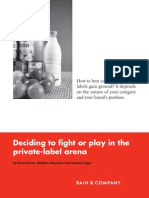 BAIN BRIEF Deciding to Fight or Play in the Private Label Arena
