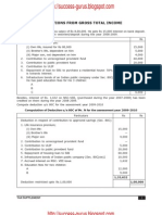 ICWAI Deductions From Gross Total Income for June and December 2009 Examinations