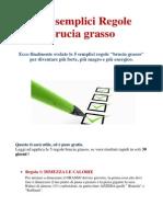 5 Semplici Regole Brucia Grasso