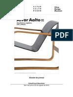 Nota de Prensa de La Exposicion Alvar Aalto 1898 1976 i en Caixaforum