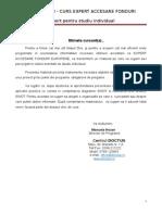 Studiu Individual-Expert Accesare Fonduri UE