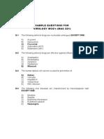 Sample MCQ's of Virology