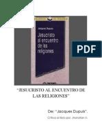 Jesucristo Al Encuentro de Las Religiones Nuñez