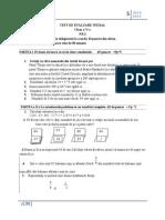 Test de Evaluare Iniţial Nr 2 Cls 5