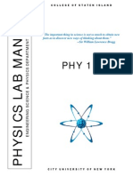 Phy 116 Lab Manual Fall 15