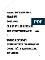 Advisory Jurisdiction of Supreme Court