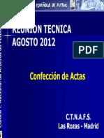 Redaccion de Actas 2012
