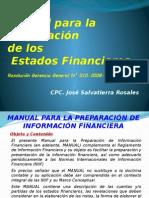 Manual para la preparacion de los EEFF