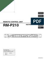 JVC RM-P210 Operational Manual