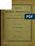 Ahn's German Handwriting (1869)