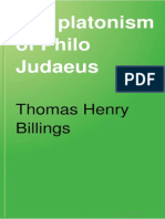 The Platonism of Philo Judaeus