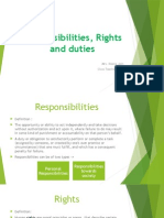 Responsibilities, Rights and Duties presentation