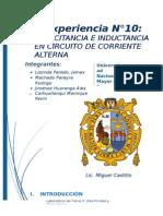 Informe 10 CAPACITANCIA
