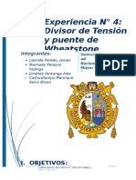 Informe 4 Divisor de Tension