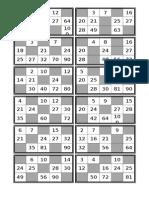 Cartones Bingo Tablas Hasta 10