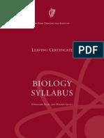 Leaving Certificate Biology Syllabus