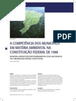 A Competencia Dos Municipios Em Matéria Ambiente Conforme a CF 88
