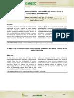 A Formação Do Profissional de Engenharia No Brasil - Entre o Tecnicismo e o Humanismo (1)