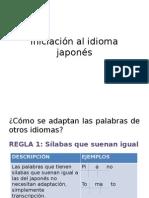 Iniciación Al Idioma Japonés