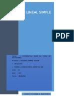 Regresión Lineal Simple