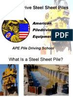 How to Drive Steel Sheet Piles