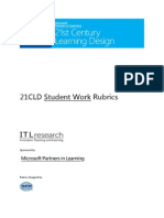 21cld student work rubrics 2012