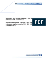 EN62040-1-2009 A1-2013 Uninterruptible Power Systems - General and Safety Requirements for UPS
