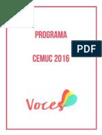 Programa Voces CEMUC 2016