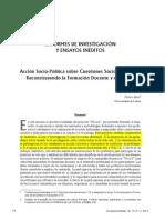 Accion Sociopolitica Sobre Cuestiones Sociocientificas- Pedro Reis