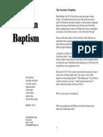 Baptism Booklet