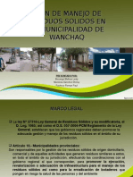 Plan de Manejo de Residuos Solidos en Wanchaq
