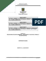 Obligaciones de Gestion Ambiental, De Seguridad y Salud en El Trabajo y